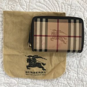 Authentic Burberry Zip-Around Wallet Small